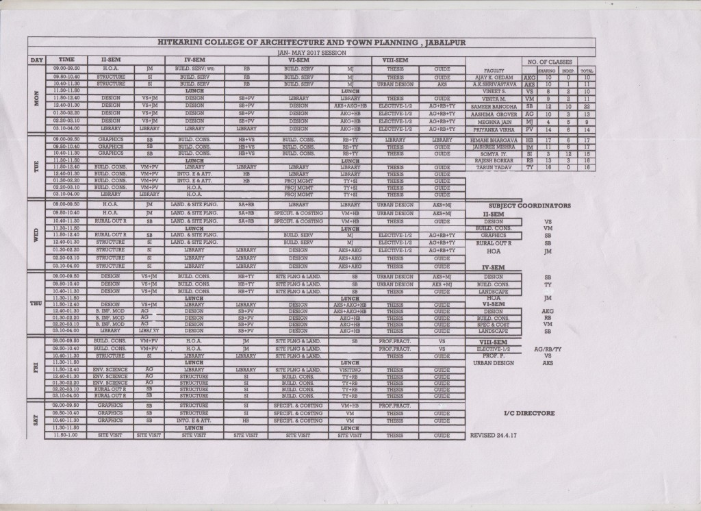 College Timetable 1617